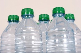 Polyethylene-terephthalate-PET-water-bottles
